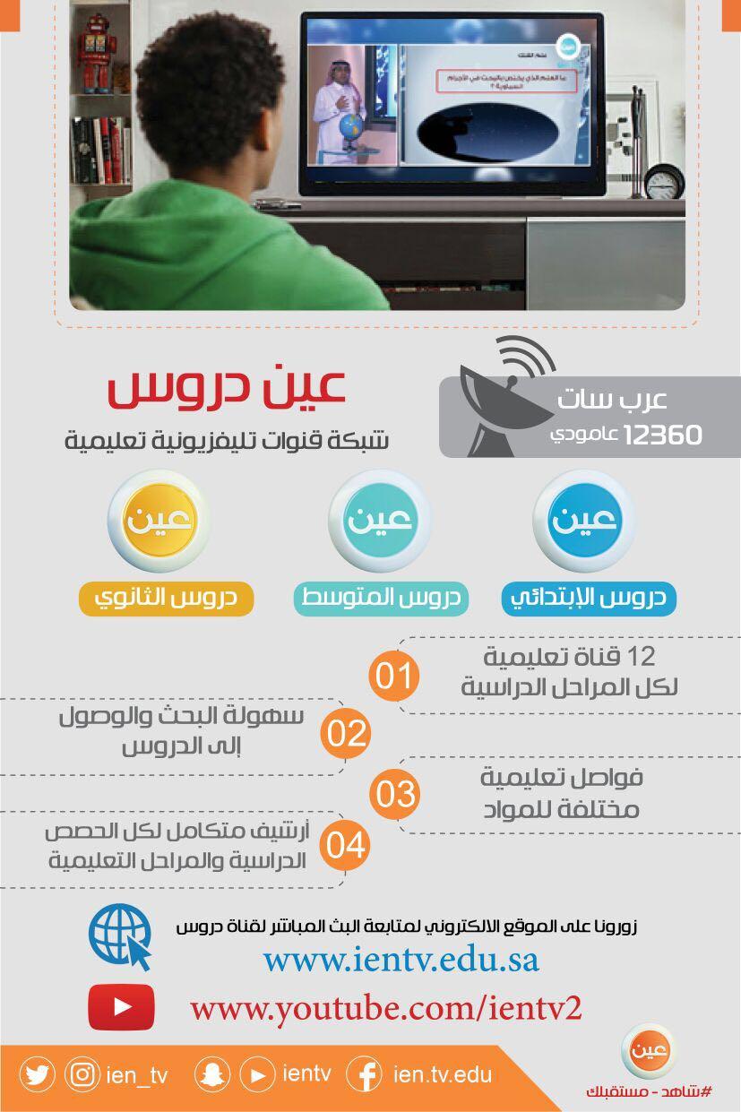 0a60c9ed462d1 حث الطلاب والطالبات لمتابعة قنوات