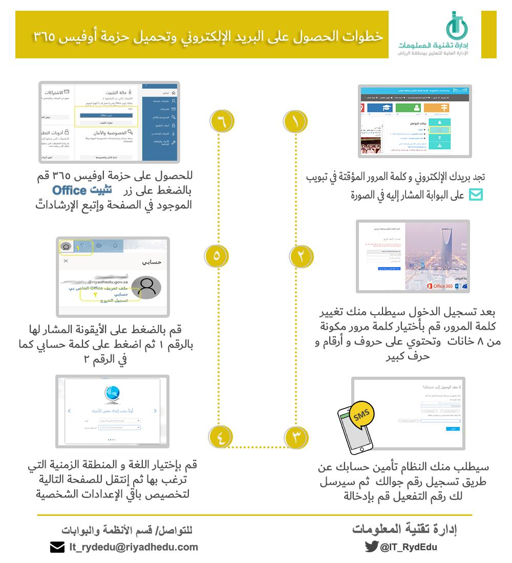 البريد الإلكتروني وتطبيقات أوفيس365